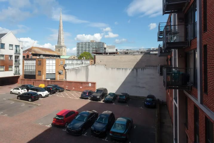 Secure car parking which overlooks St Michael's Church. Bay 2 is for the sole use of the apartment guests
