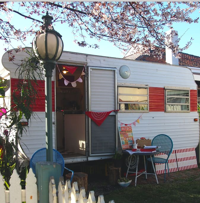Caravan Exterior - styled for a photo shoot
