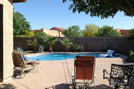 Private, Clean and Quiet Desert Retreat with pool - Maricopa - Casa