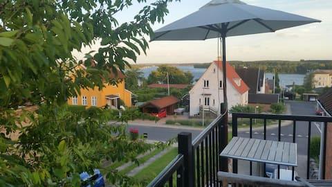 Villalejlighed med udsigt til Svendborgsund
