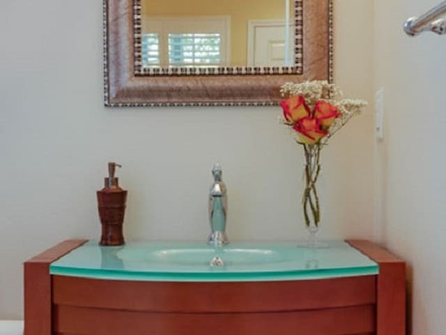 Glass Sink in the Bath Room