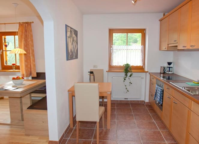 """Homely Holiday Farm Apartment """"Andreas"""" with Terrace & Mountain View; Parking spaces available"""