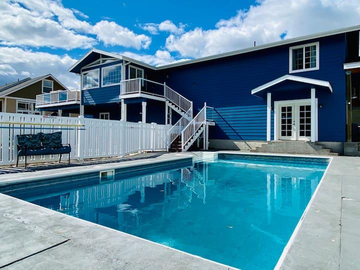 Lakeside Pool Retreat + Hot Tub, Game Room, Views
