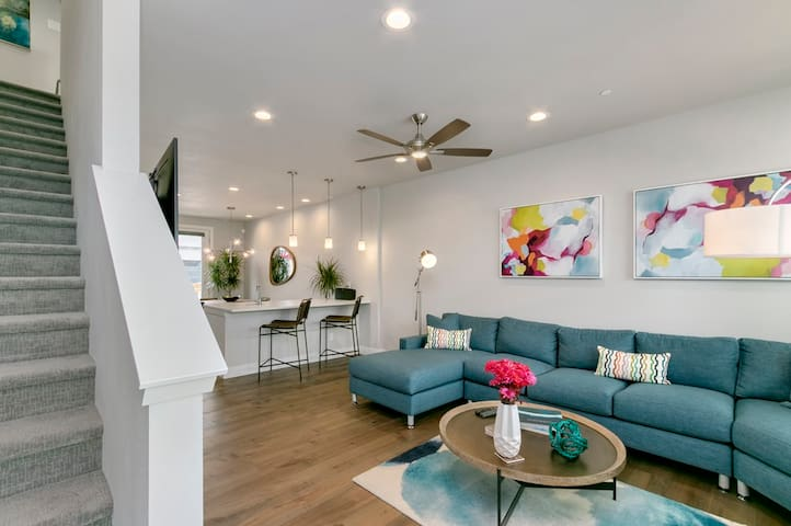 Spacious first floor living area, dining and kitchen is ideal for socializing and relaxing
