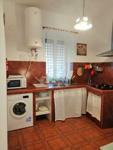 Cocina totalmente equipada.