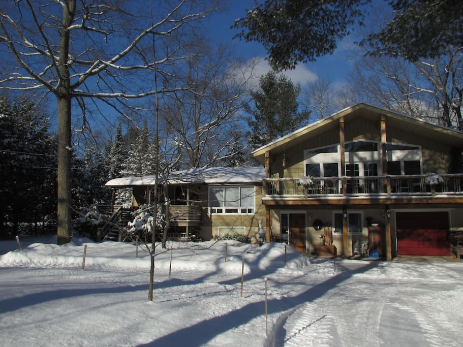 Rental space is on the left and is part of our home. Private with separate entrance