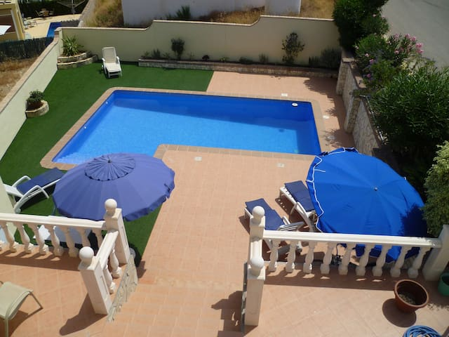 Detached Villa with own pool .