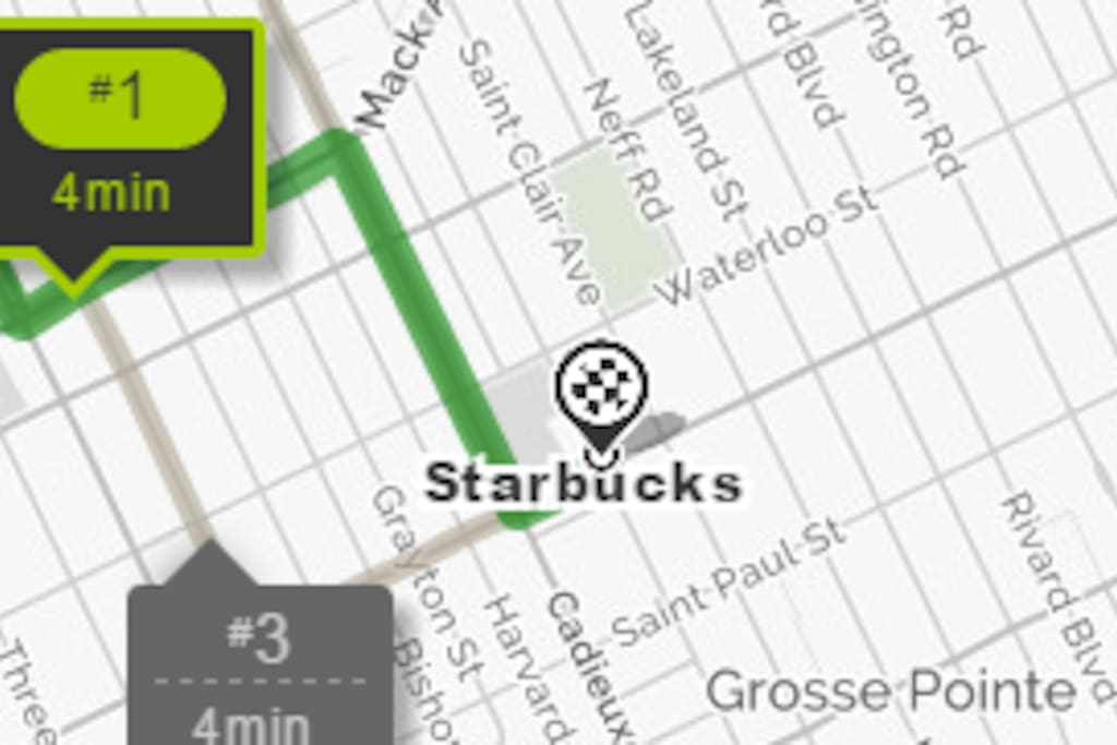 Yes!!!!!  You can drive to Starbucks within 5 minutes.  You can also use the house bike and get there casually in less than 15 minutes.