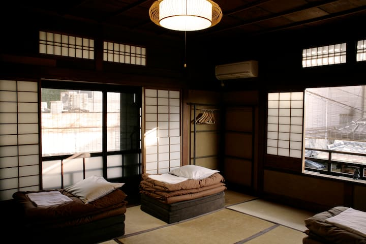 Japanese Triple Room In Classic Japanese House