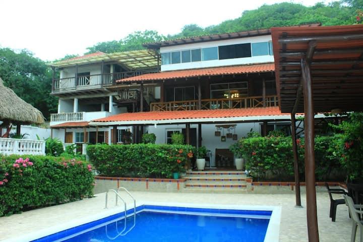 Cabaña , casa campestre ,casa, Playa,villa vilma