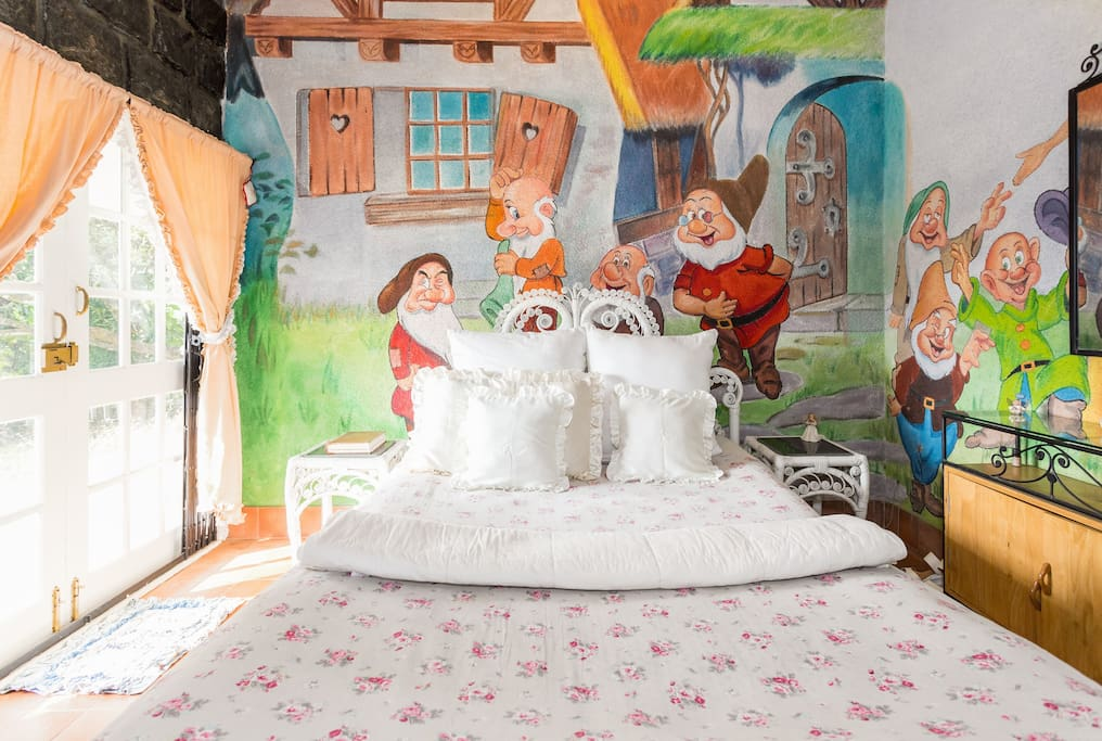 The Fairytale Bedroom with a Queen Bed