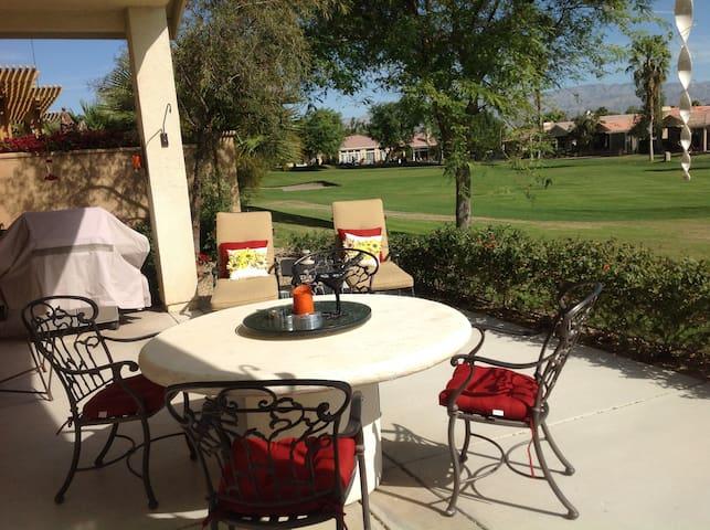 Patio/golf course view