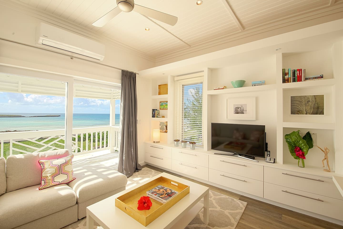 Living area with amazing views of Anchor Bay