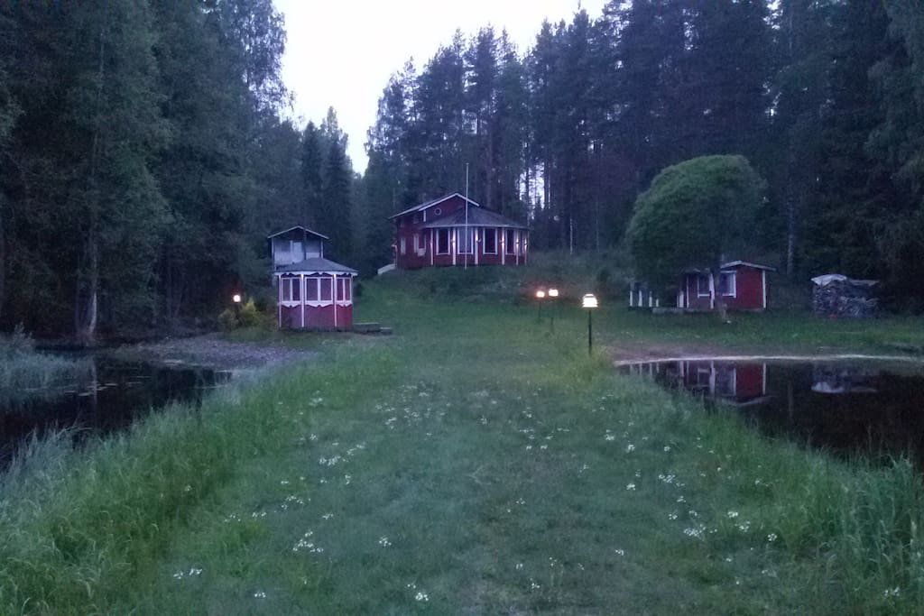 the whole property by evening