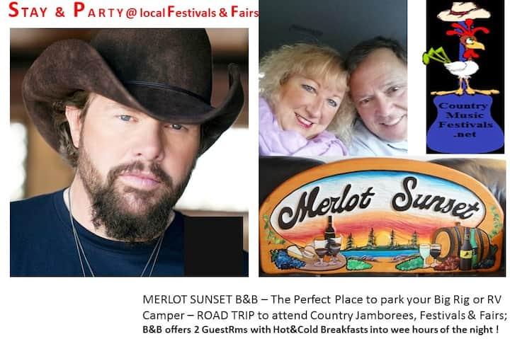 MERLOT SUNSET- Enjoy Jamborees, Fests & Festivals