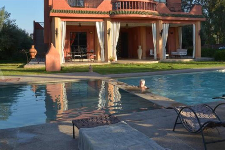 villa louer avec piscine vue sur l atlas villas louer marrakech marrakech tensift al haouz maroc