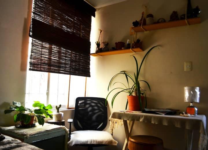 Habitación con toque artesanal a 10 min del Zócalo