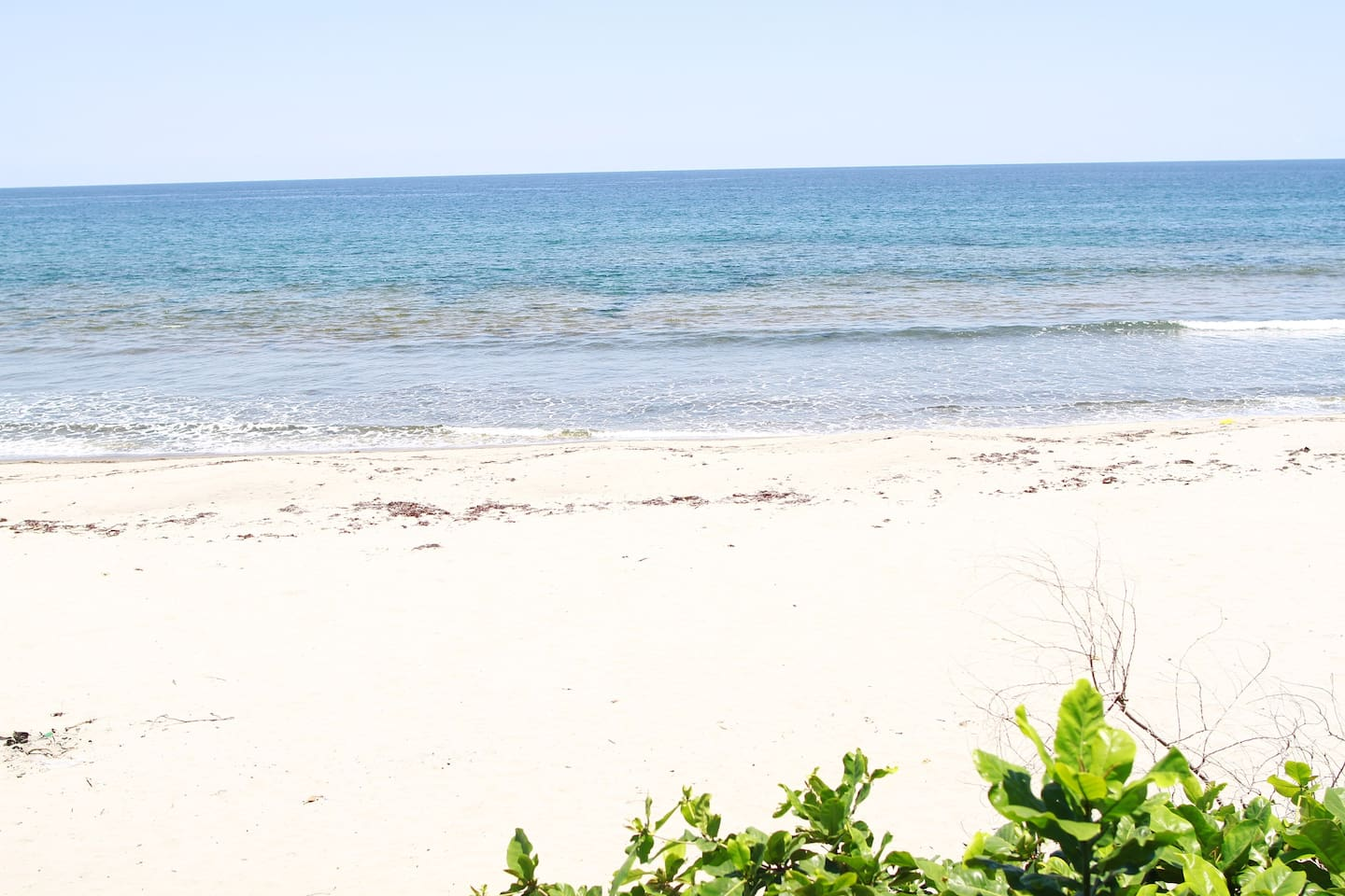 The beach which is a view from the garden.