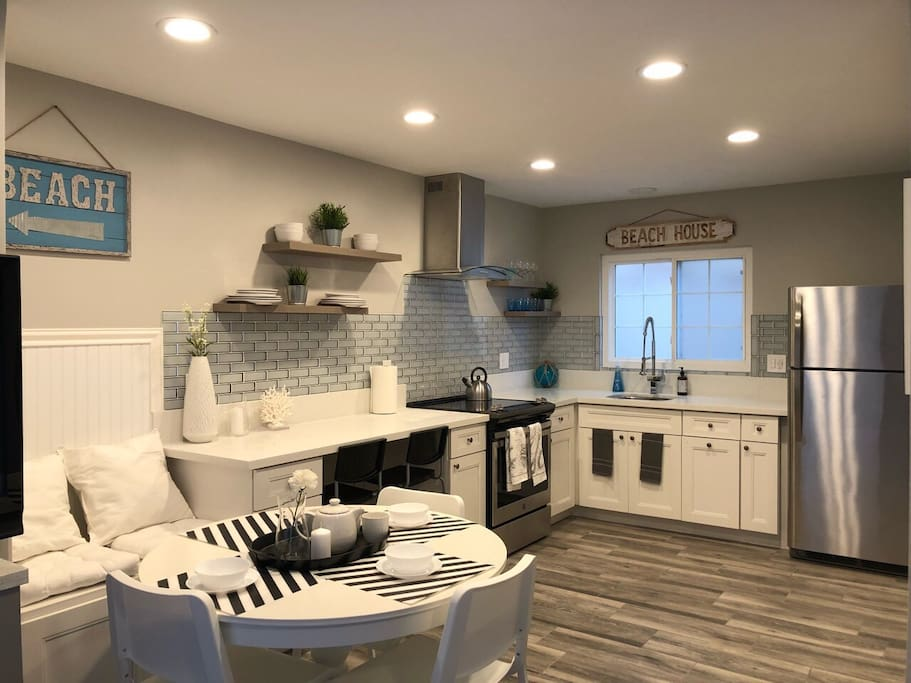 Spacious modern open kitchen