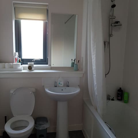 Studio with ensuite bathroom and shower