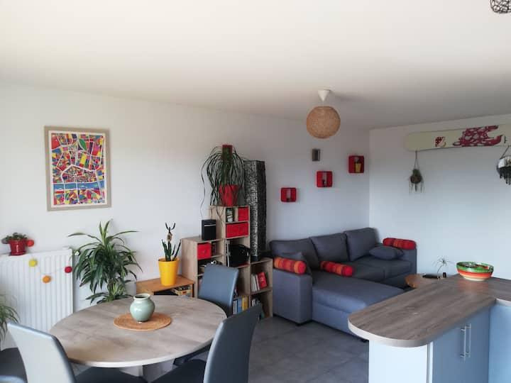 Appartement vue mont-blanc proche de Genève