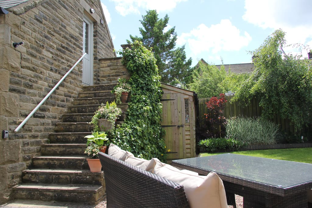 Your own private entrance and use of the patio overlooking the garden