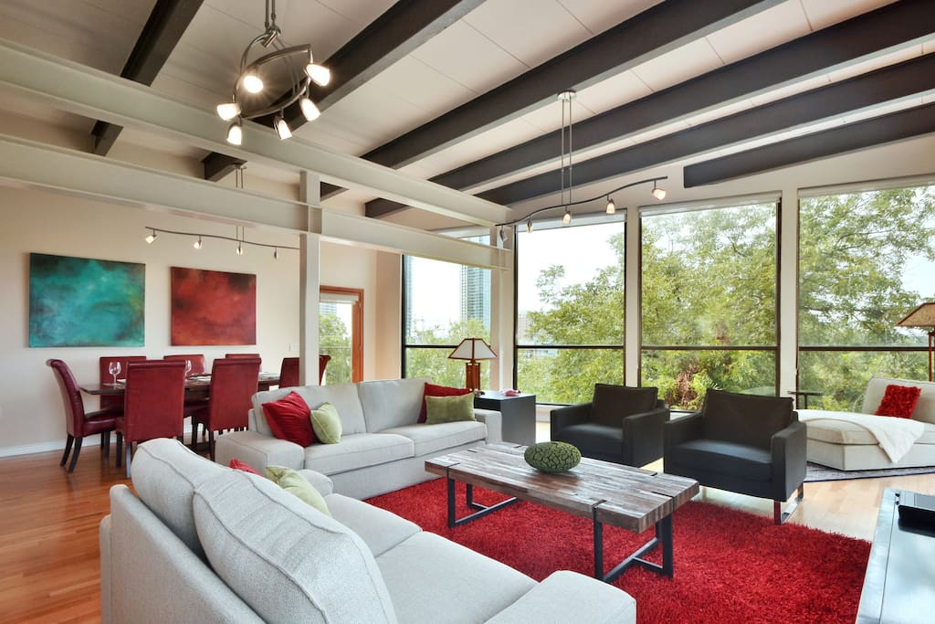 This penthouse truly is an architectural masterpiece, and affords gracious living in the center of the music capital of the world - Austin, Texas!