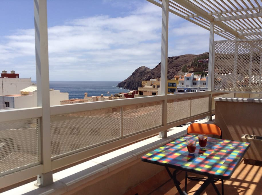 Breakfast with a view. Top roof  private terrace