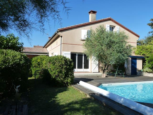 Maison confortable vue sur Toulouse - Montrabé - Hus