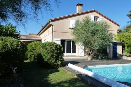 Maison confortable vue sur Toulouse - Montrabé