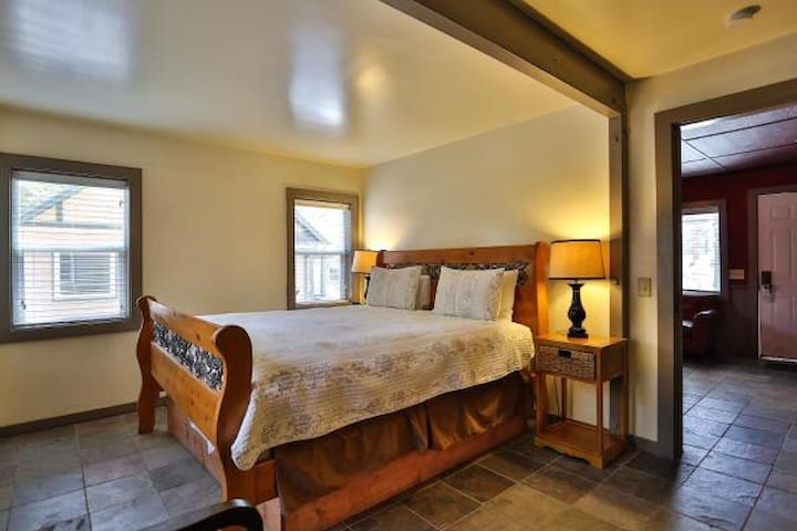 Cabin 23 is one bedroom with king bed