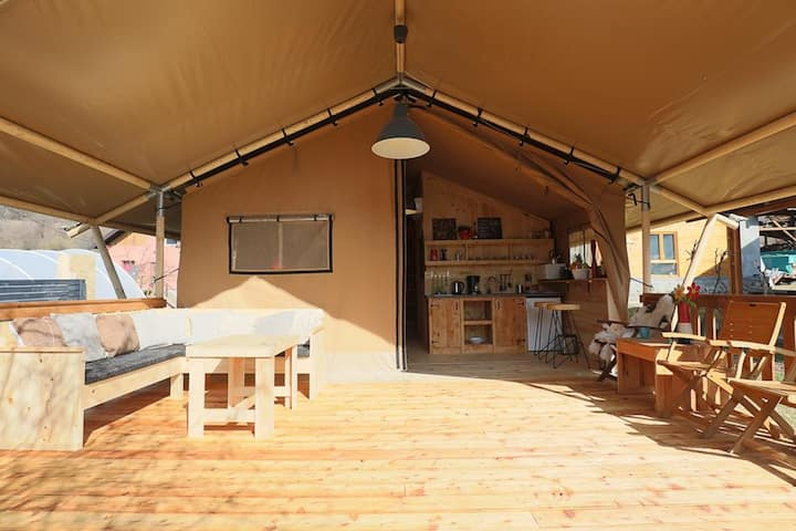 Safari Home - Two-Bedroom Open Glamping Home