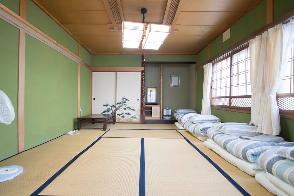 Bed Room sleep with futon on tatami mat, for your private use