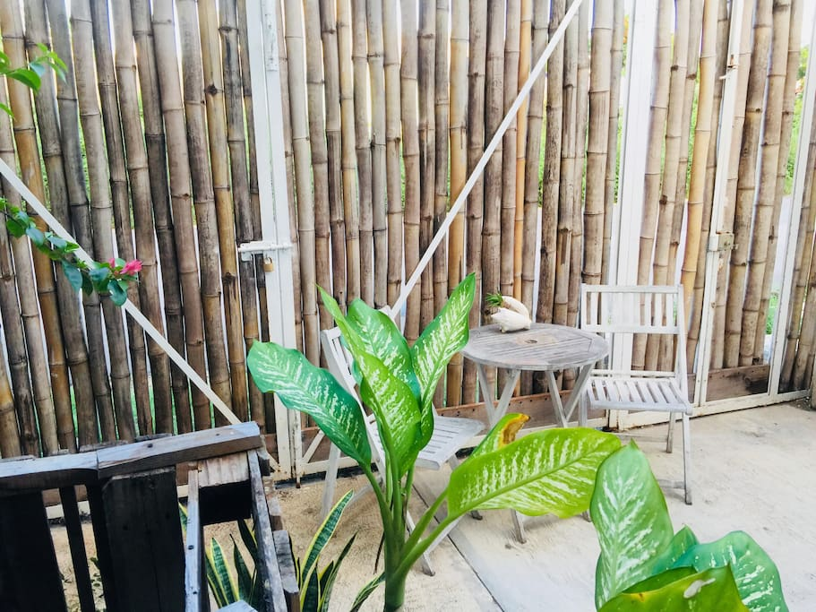 Your private entrance on the bamboo gate