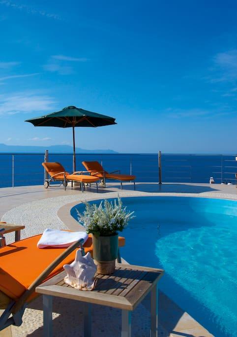 Tersanas Villa Exterior - Private Pool - Magnificent Views