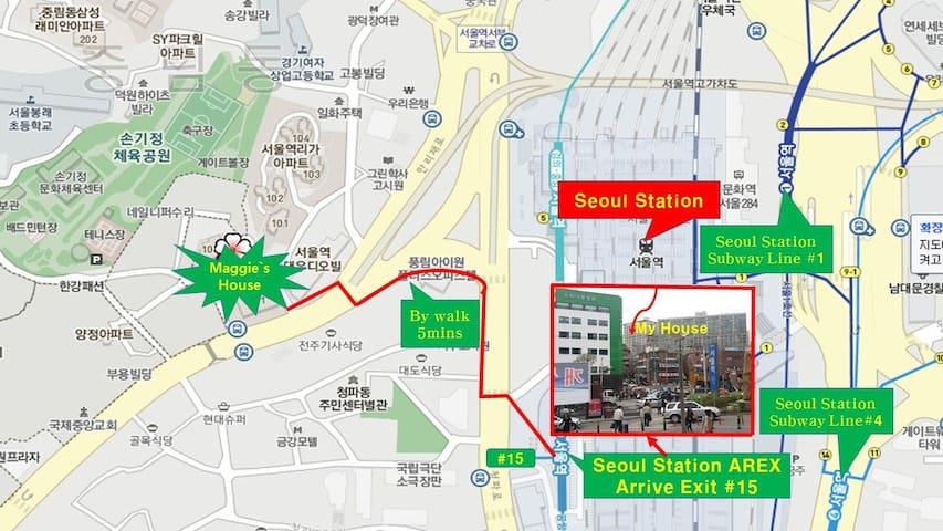 #1 Modern Apartment. @Seoul Station