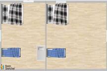 2nd floor. Two bedrooms