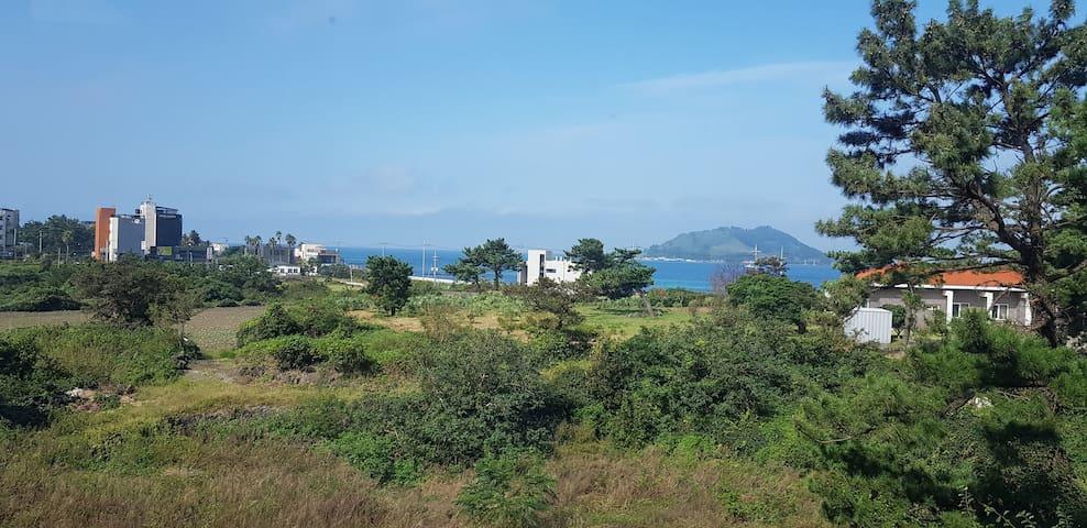 환상적인 비양도 바다뷰! 가족게스트에 최적인 협재해변 인접한 일주일, 한달살기 숙박입니다!