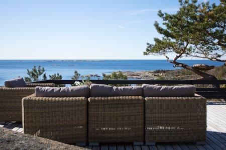 Hytte med panoramautsikt ved Sandefjord