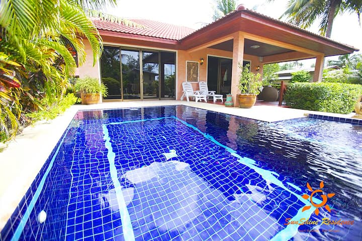 Private pool villa 50 meters from the beach 🏝⭐