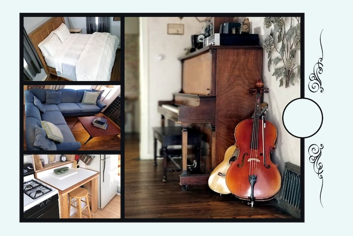 ▷ ˰Full Room, Charming Urban Cottage