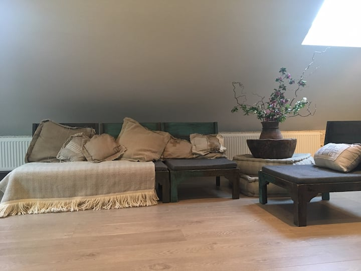 Sfeervolle ruime luxe Suite (65m2) met Finse sauna