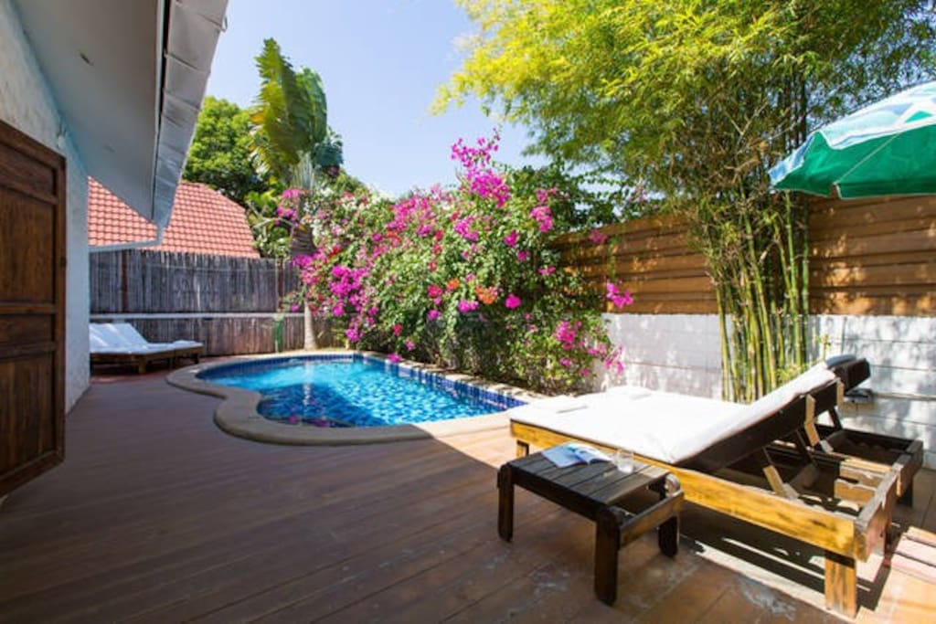 4 pool villa walk to beach btc boutique resort 1 for Outdoor furniture hua hin