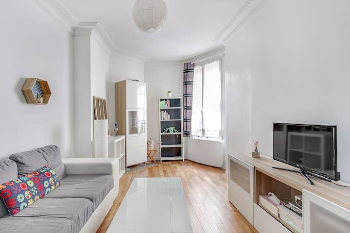 Lovely 1 bedroom Paris 14th Alesia (Bail mobilité)