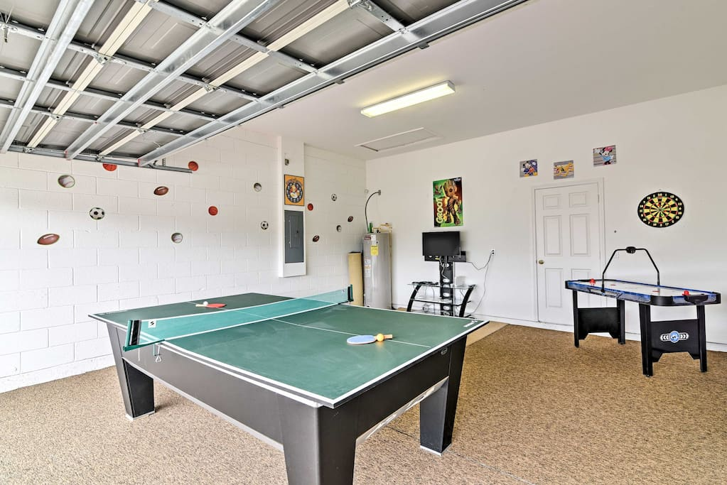 Challenge each other to a game of pool, ping-pong, darts, XBox, or air hockey!