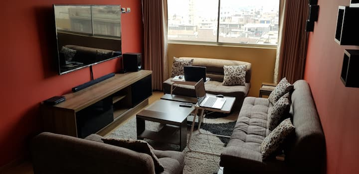 Free apartment in Lima and central tourism.
