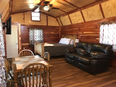 Rocky Top Winery's beautiful rustic cedar cabin #5
