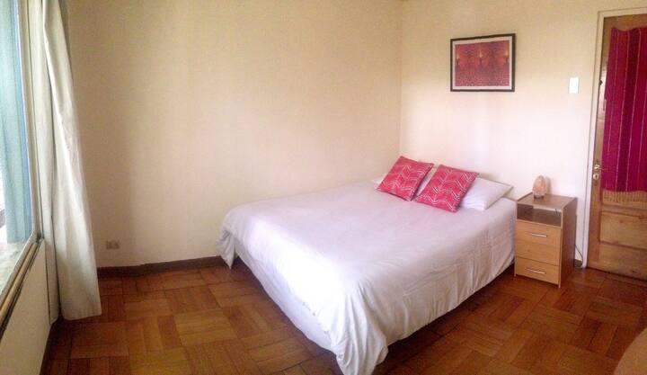 Rooms 1 or 2 People Next to Parque Araucano