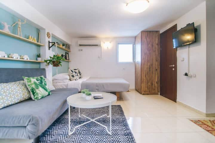⭐⭐ Studio + Private Rooftop + Urban View + By Dizengoff Square ⭐⭐