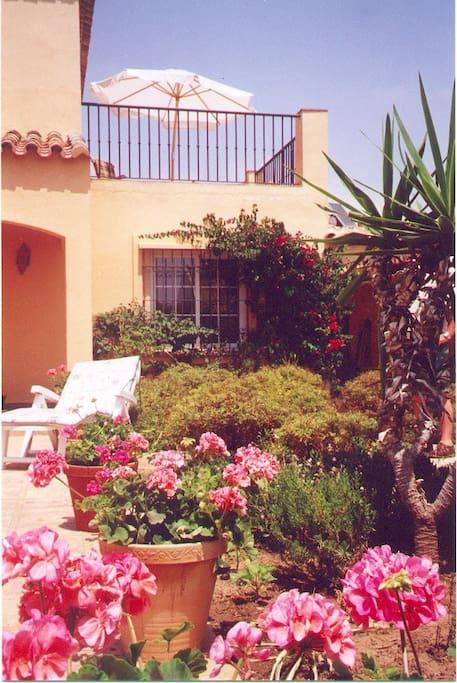 In the garden Casa Margarita
